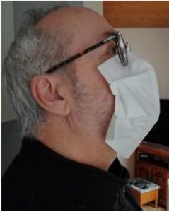 masque chirurgical vu de profil