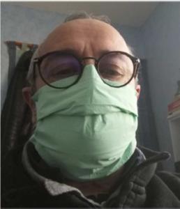 masque chirurgical 2 vu de face