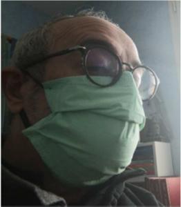 masque chirurgical 2 vu de profil